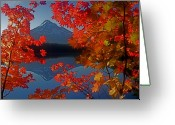 Reflected Greeting Cards - Lost Lake Autumn Greeting Card by Todd Kreuter
