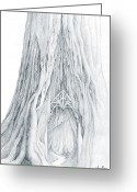 Hobbit Greeting Cards - Lothlorien Mallorn Tree II Greeting Card by Curtiss Shaffer