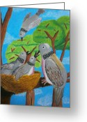 Relationship Pastels Greeting Cards - Love and Dove Greeting Card by Adam Wai Hou