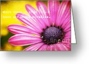 Flowerbed Greeting Cards - Love Greeting Card by Darren Fisher