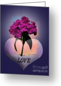Pink Flower Prints Digital Art Greeting Cards - Love Greeting Card by Gerlinde Keating - Keating Associates Inc