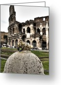Ancient Rome Greeting Cards - love locks in Rome Greeting Card by Joana Kruse