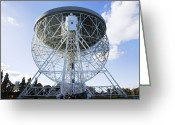 Antenna Greeting Cards - Lovell Radio Telescope Greeting Card by Mark Williamson