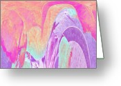 Purples Digital Art Greeting Cards - Lovely to Look At Greeting Card by Deborah MacQuarrie
