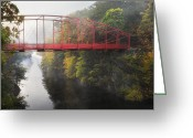 Leap Greeting Cards - Lovers Leap Bridge Greeting Card by Bill  Wakeley