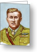 Murray Mcleod Greeting Cards - Lt.Col. William Bishop Greeting Card by Murray McLeod
