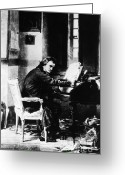 Music Teacher Greeting Cards - Ludwig Van Beethoven, German Composer Greeting Card by Photo Researchers, Inc.