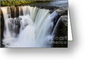 Sacred Earth Greeting Cards - Lundbreck Falls Evening Light Greeting Card by Bob Christopher