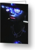 Lights Sculpture Greeting Cards - Madame Butterfly Greeting Card by Steve Barnard