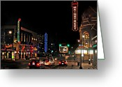 Kansas City Greeting Cards - Main Street  Greeting Card by Steve Karol