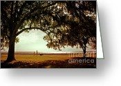 Northshore Greeting Cards - Mandeville Lakefront Greeting Card by Scott Pellegrin