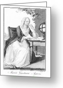 Nun Greeting Cards - Maria Agnesi, Italian Mathematician Greeting Card by Humanities & Social Sciences Librarynew York Public Library