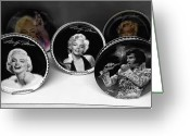 Marilyn Monroe Singer Greeting Cards - MARILYN and ELVIS Greeting Card by Daniel Hagerman