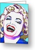 Movie Legend Greeting Cards - Marilyn Greeting Card by Colleen Kammerer