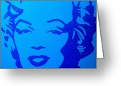 Marilyn Monroe Singer Greeting Cards - Marilyn Greeting Card by John  Nolan