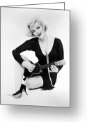 Movie Star Greeting Cards - Marilyn Monroe (1926-1962) Greeting Card by Granger