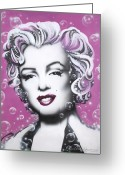 Movie Legend Greeting Cards - Marilyn Monroe Greeting Card by Alicia Hayes