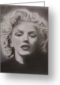 Marilyn Munroe Greeting Cards - Marilyn Monroe Greeting Card by Mike OConnell