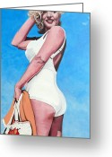 Royal Gamut Art Greeting Cards - Marilyn Monroe Greeting Card by Tom Roderick