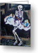 Calaveras Greeting Cards - Marilyn Greeting Card by Sharon Sieben