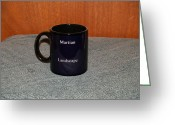Surrealism Ceramics Greeting Cards - Mars Custom photo reproduction Coffee mug- Side B Greeting Card by Ryan Demaree
