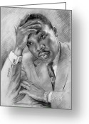 Martin Luther King Greeting Cards - Martin Luther King Jr Greeting Card by Ylli Haruni