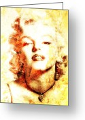 Marylin Greeting Cards - Marylin Monroe  Greeting Card by Juan Jose Espinoza