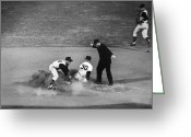 Umpire Greeting Cards - Maury Wills (1932- ) Greeting Card by Granger