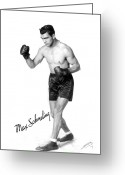 Glove Greeting Cards - Max Schmeling (1905-2005) Greeting Card by Granger