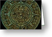 Calendar Greeting Cards - Mayan Calendar Greeting Card by Randall Arthur