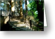 Wrought Iron Stairs Greeting Cards - McCormick Museum Greeting Card by Ely Arsha