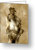Embrace Greeting Cards - Melt Greeting Card by Kurt Van Wagner