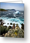 Cave Greeting Cards - Melting iceberg Greeting Card by Elena Elisseeva