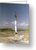 Redstone Greeting Cards - Mercury-redstone Launch Greeting Card by Nasa