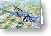 Plane Drawings Greeting Cards - Merle Maureen Greeting Card by Charles Taylor