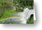 Yellowstone Landscape Art Greeting Cards - Mesa Falls Greeting Card by Greg Norrell