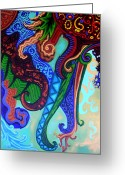 Esson Greeting Cards - Metaphysical Habituation Greeting Card by Genevieve Esson