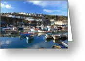 Kernow Greeting Cards - Mevagissey Greeting Card by Carl Whitfield
