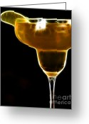 Food And Beverage Digital Art Greeting Cards - Mexico Gold . Lime Margarita Greeting Card by Wingsdomain Art and Photography