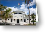 Warn Greeting Cards - Miami Beach Patrol HQ Greeting Card by Frank Mari