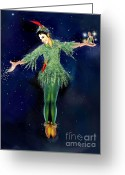 Michael Jackson Greeting Cards - Michael Jackson As Peter Pan Greeting Card by Karine Percheron-Daniels