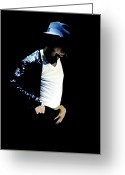 King Of Pop Greeting Cards - Michael Jackson  Greeting Card by Plamen Petkov