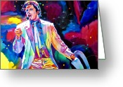 Music Legends Greeting Cards - Michael Jackson Smooth Criminal Greeting Card by David Lloyd Glover