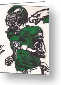 Philadelphia  Drawings Greeting Cards - Micheal Vick Greeting Card by Jeremiah Colley