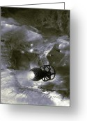 Submarines Greeting Cards - Micro-submarines Greeting Card by Coneyl Jay