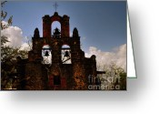 Gerlinde-keating Greeting Cards - Mission San Francisco de la Espada Greeting Card by Gerlinde Keating - Keating Associates Inc