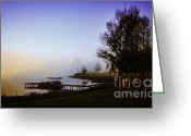 Restless Light Photography Greeting Cards - Misty Morning on Lake Jaunita Greeting Card by Lynn Palmer