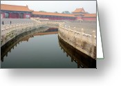 Forbidden City Greeting Cards - Moat in Forbidden City Beijing China Greeting Card by Thomas Marchessault