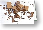 Melt Greeting Cards - Molten Chocolate Greeting Card by Joana Kruse