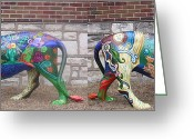 Colorful Sculpture Greeting Cards - Monsieur de Lioncourt Greeting Card by Genevieve Esson
